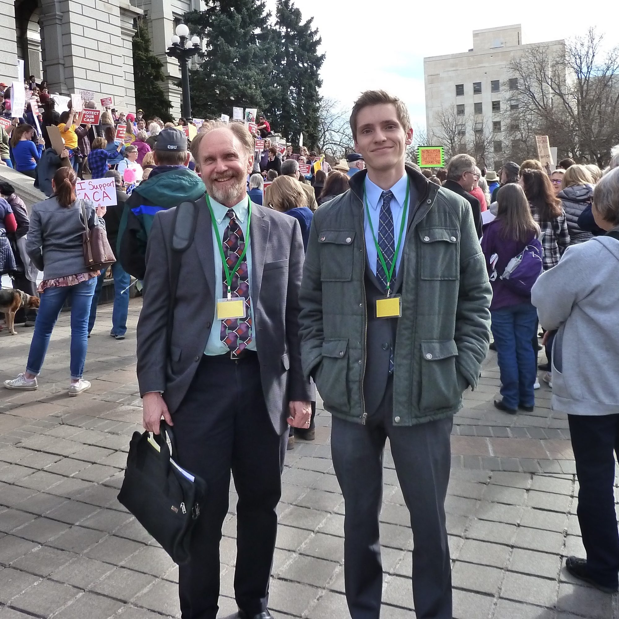 Dr. Robert Duffy and Spencer Lipscombe at Colorado State Capitol in 2017
