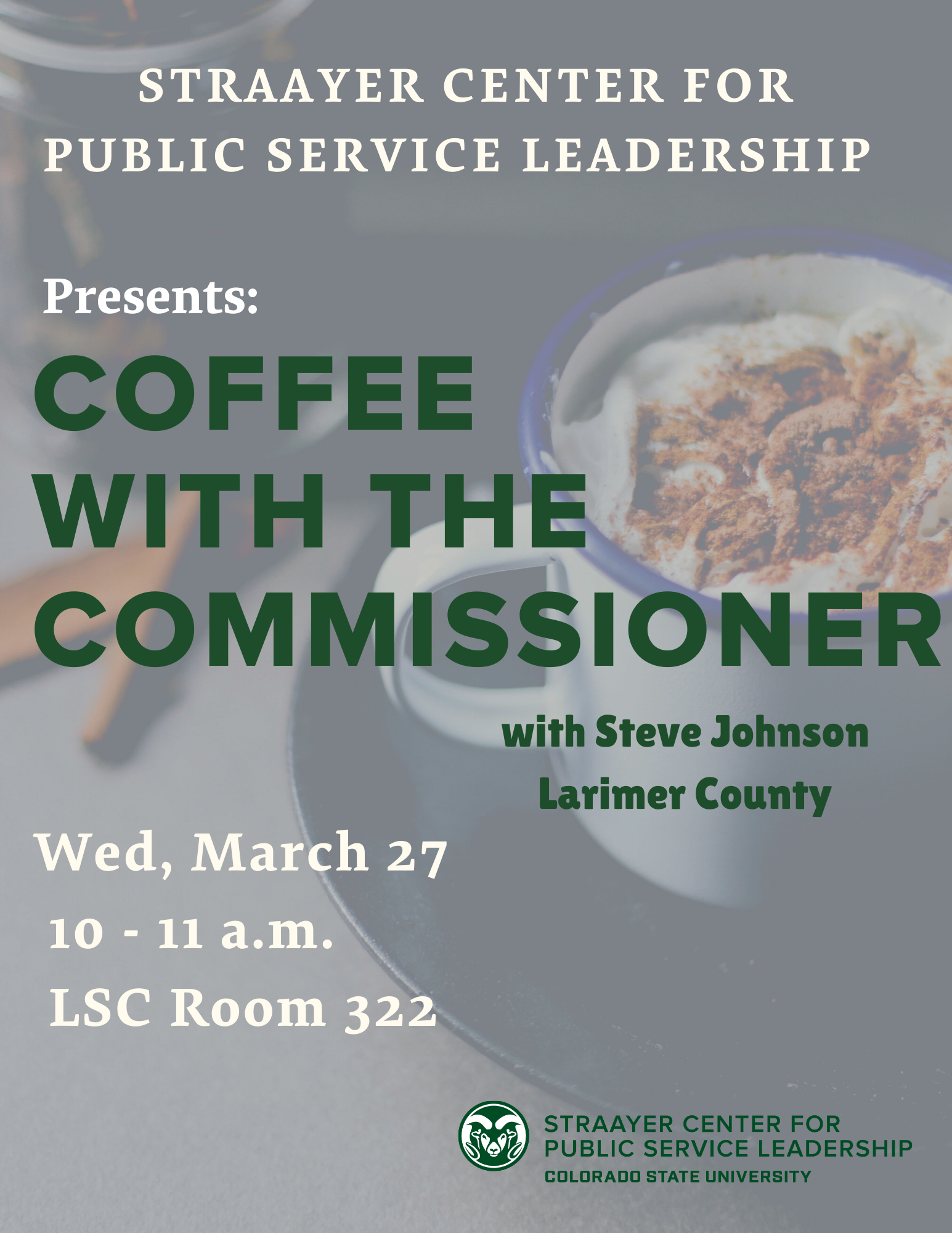 Coffee with the Commissioner